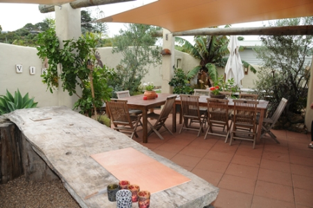 The spacious courtyard with ample room for your occasion